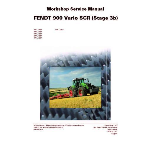 Fendt 900 - 924 / 927 / 930 / 933 / 936 tractor workshop service manual