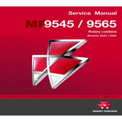 Manual de servicio de la cosechadora Massey Ferguson 9445/9565 - Massey Ferguson manuales