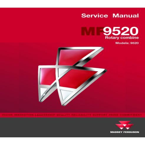 Massey Ferguson 9520 combine service manual