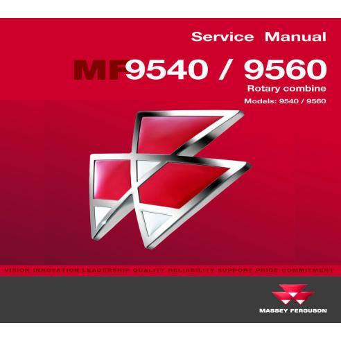 Manual de serviço da colheitadeira Massey Ferguson 9540/9560 - Massey Ferguson manuais