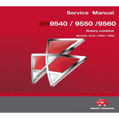 Manual de servicio de la cosechadora Massey Ferguson 9540/9550/9560 - Massey Ferguson manuales