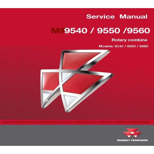 Manual de serviço da colheitadeira Massey Ferguson 9540/9550/9560 - Massey Ferguson manuais
