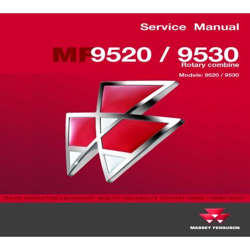 Manual de servicio de la cosechadora Massey Ferguson 9520/9530 - Massey Ferguson manuales