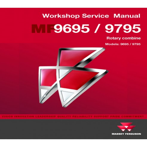 Massey Ferguson 9695 / 9795 combine workshop service manual