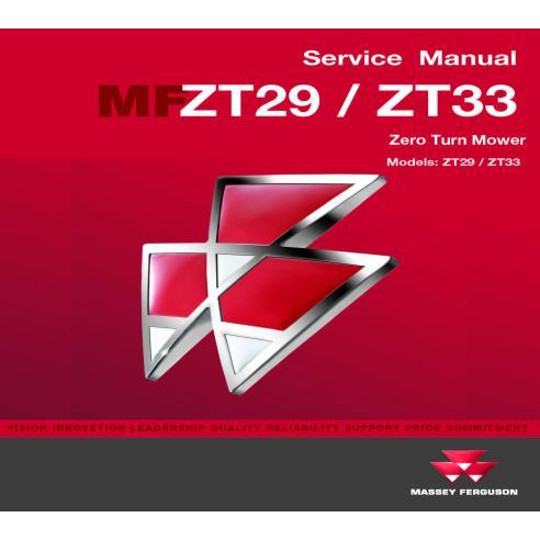 Manuel d'entretien de l'atelier de déménagement commercial Massey Ferguson ZT29 / ZT33 - Massey Ferguson manuels