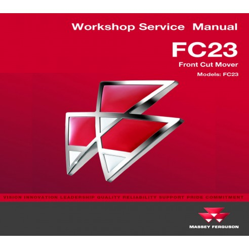 Massey Ferguson FC23 commercial mover workshop service manual - Massey Ferguson manuals