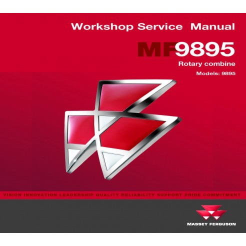 Massey Ferguson 9895 combine workshop service manual