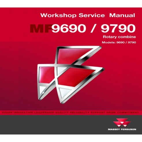 Massey Ferguson 9690 / 9790 combine workshop service manual