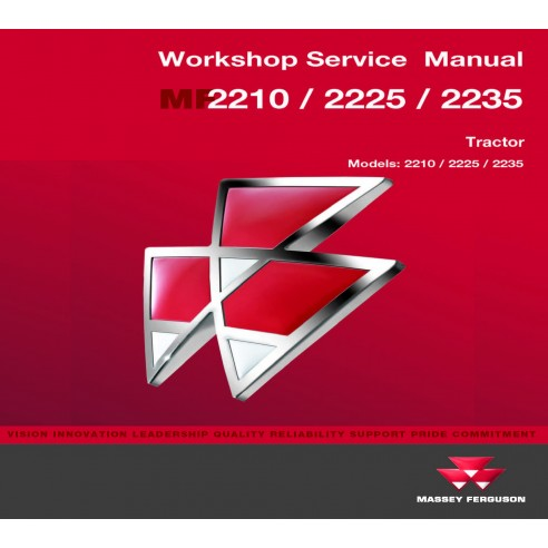 Massey Ferguson MF 2210 / 2225 / 2235 tractor workshop service manual
