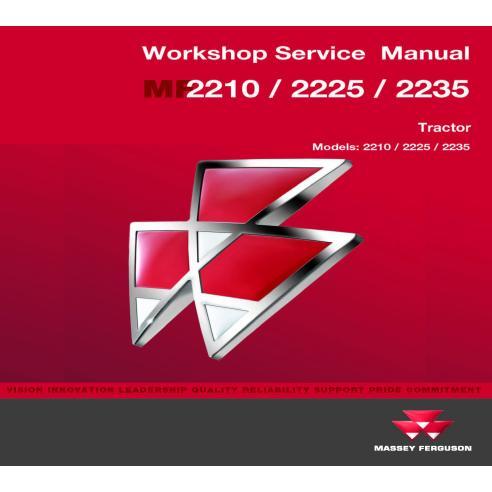 Manual de servicio del taller del tractor Massey Ferguson MF 2210/2225/2235 - Massey Ferguson manuales