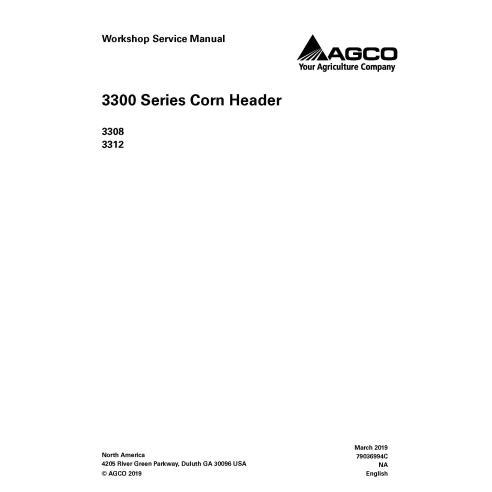 Manual de serviço da oficina do cabeçalho Gleaner 3308/3312 - Gleaner manuais