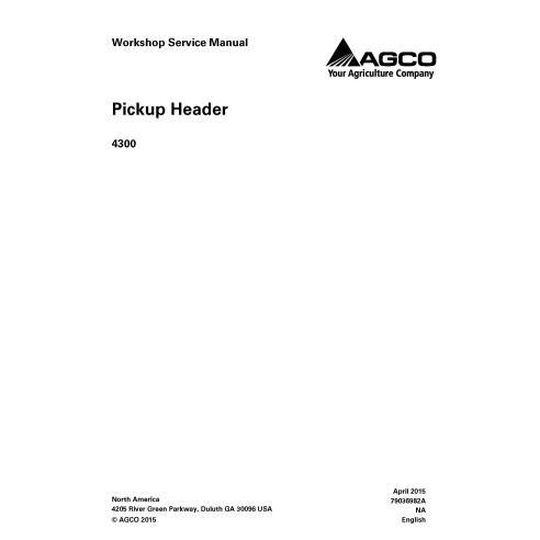 Manual de serviço da oficina do cabeçalho Gleaner 4300 - Gleaner manuais