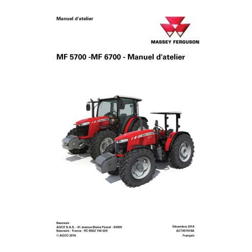 Massey Ferguson MF 5708/5709/5710/5711/6711/6712/6713 manual de servicio del taller del tractor - Massey Ferguson manuales