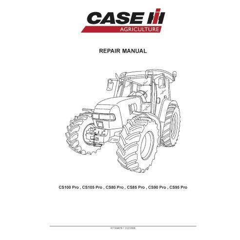 Manual de reparo de trator Case Ih CS100 Pro / CS105 Pro / CS80 Pro / CS85 Pro / CS90 Pro / CS95 Pro - Case IH manuais