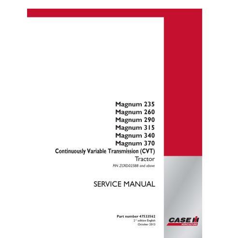 Case Ih Magnum 235 / 260 / 290 / 315 / 340 / 370 CVT tractor service manual - Case IH manuals