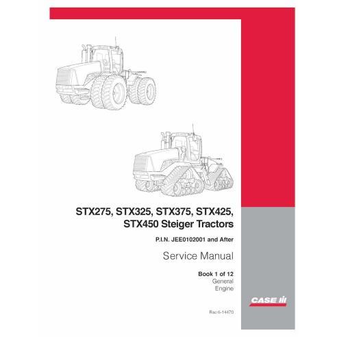 Manual de servicio del tractor Case Ih STX275 / STX325 / STX375 / STX425 / STX450 / STX500 - Case IH manuales