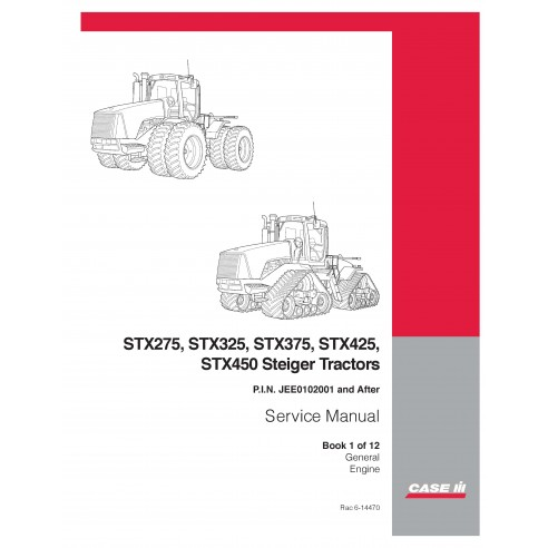 Manuel d'entretien du tracteur Case Ih STX275 / STX325 / STX375 / STX425 / STX450 / STX500 - Case IH manuels