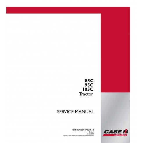 Case Ih 85C / 95C / 105C tractor service manual - Case IH manuals