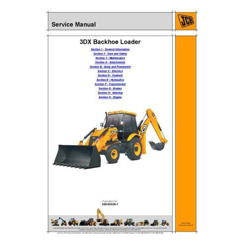 Manual de servicio de la retroexcavadora Jcb 3DX - JCB manuales