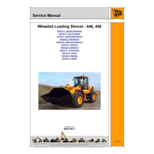 Manual de serviço da carregadeira de rodas Jcb 446/456 - JCB manuais