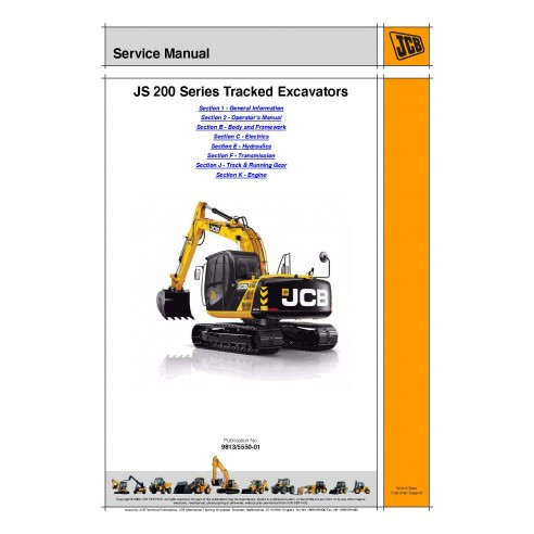 Jcb JS200 Series excavator service manual - JCB manuals