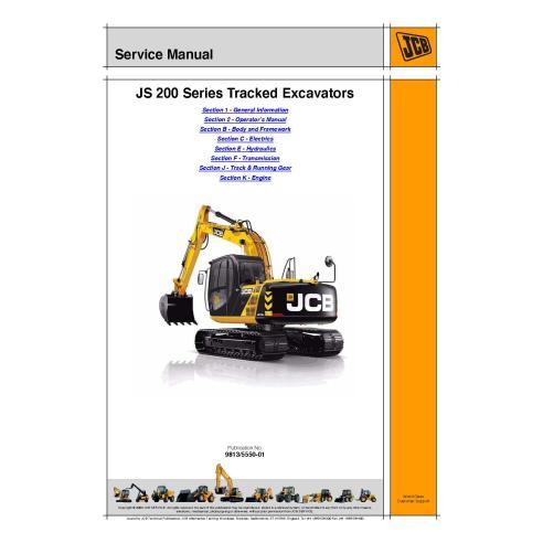 Manual de servicio de la excavadora Jcb JS200 Series - JCB manuales