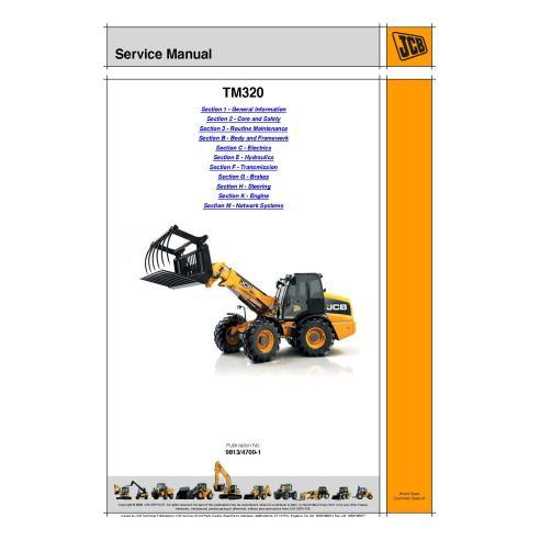 Manual de serviço do manipulador telescópico Jcb TM320 - JCB manuais