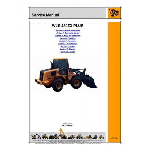 Manual de serviço do carregador Jcb WLS 430ZX Plus - JCB manuais