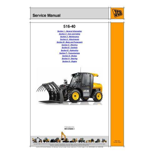 Jcb 516-40 telescopic handler service manual - JCB manuals