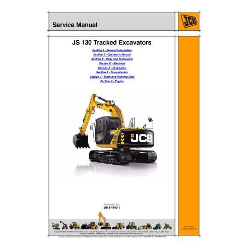 Manual de serviço da escavadeira Jcb JS130 - JCB manuais