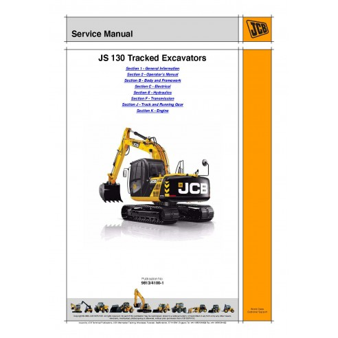 Manuel d'entretien de l'excavatrice JCB JS130 - JCB manuels