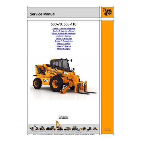 Manual de serviço do manipulador telescópico Jcb 530-70 / 530-110 - JCB manuais