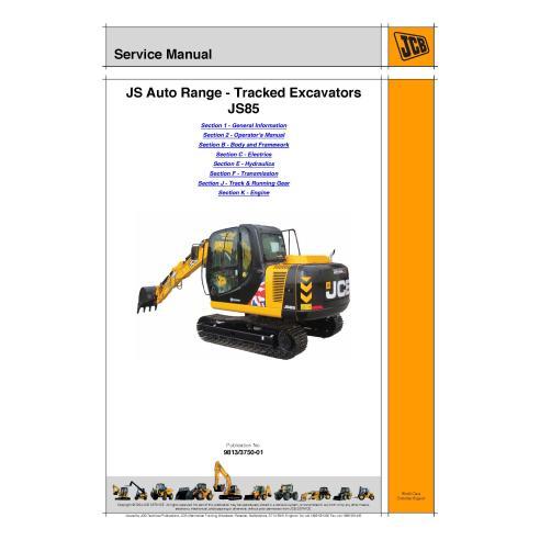 Jcb JS85 excavator service manual - JCB manuals