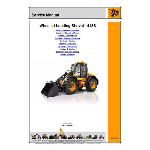 Manual de servicio del cargador Jcb WLS 418S - JCB manuales