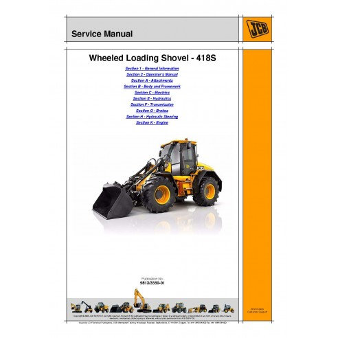 Manual de serviço do carregador Jcb WLS 418S - JCB manuais