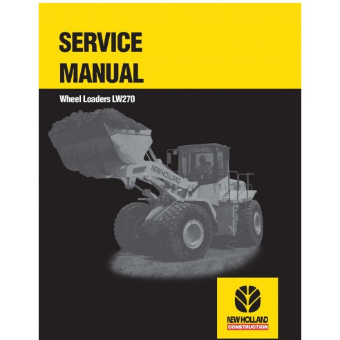 Manual de serviço da carregadeira de rodas New Holland LW270 - New Holland Construction manuais