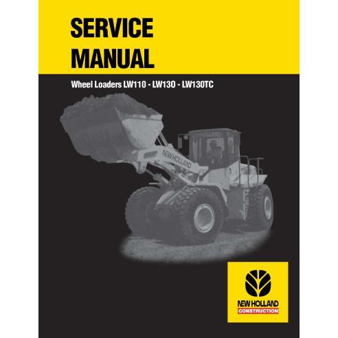 Manual de servicio del cargador de ruedas New Holland LW110 / LW130 / LW130TC - Construcción New Holland manuales
