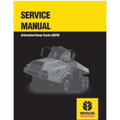 Manual de servicio del camión articulado New Holland AD250 - Construcción New Holland manuales