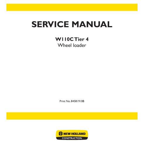 Manual de servicio de la cargadora de ruedas New Holland W110C Tier 4 - Construcción New Holland manuales