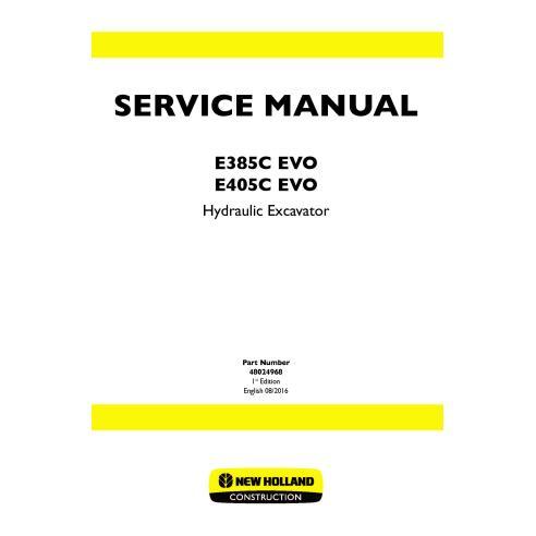 Manual de serviço da escavadeira New Holland E385C EVO / E405C EVO - New Holland Construction manuais