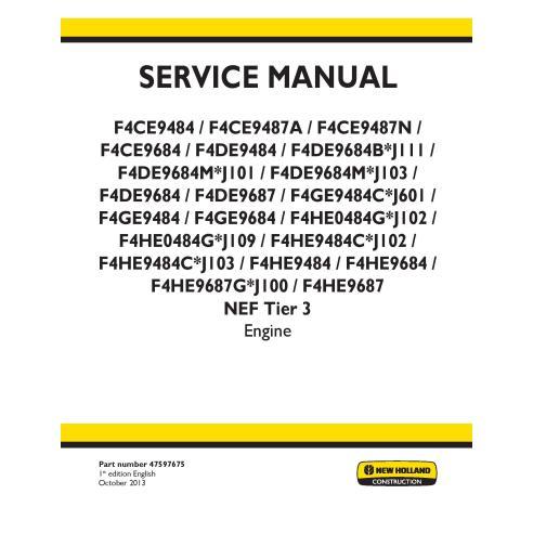 Manual de serviço do motor New Holland F4CE / F4DE / F4GE / F4HE NEF Nível 3 - New Holland Construction manuais