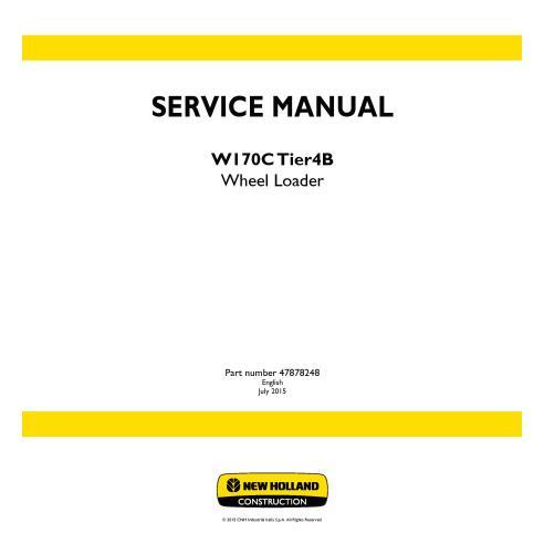 Manual de serviço da carregadeira de rodas New Holland W170C Tier4B - New Holland Construction manuais