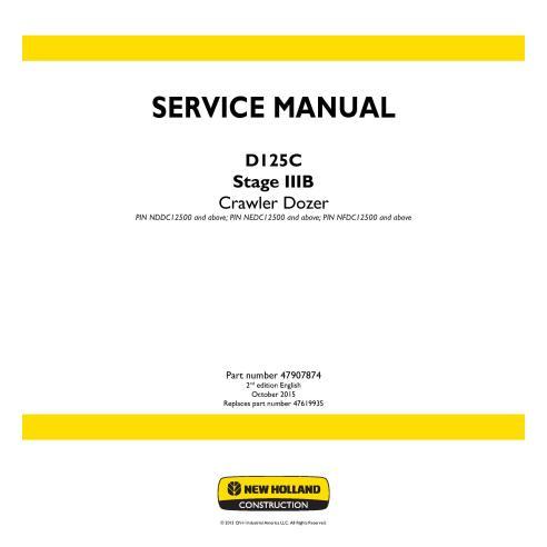 Manual de servicio de la topadora sobre orugas New Holland D125C Stage IIIB - Construcción New Holland manuales