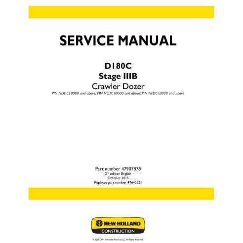 Manual de serviço do buldôzer de esteiras New Holland D180C Stage IIIB - New Holland Construction manuais