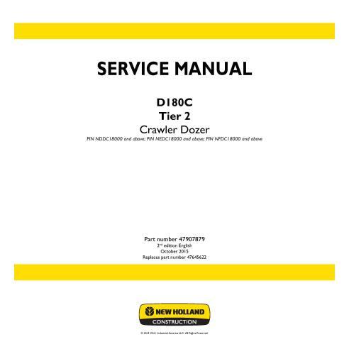 Manual de servicio de la topadora sobre orugas New Holland D180C Tier 2 - Construcción New Holland manuales