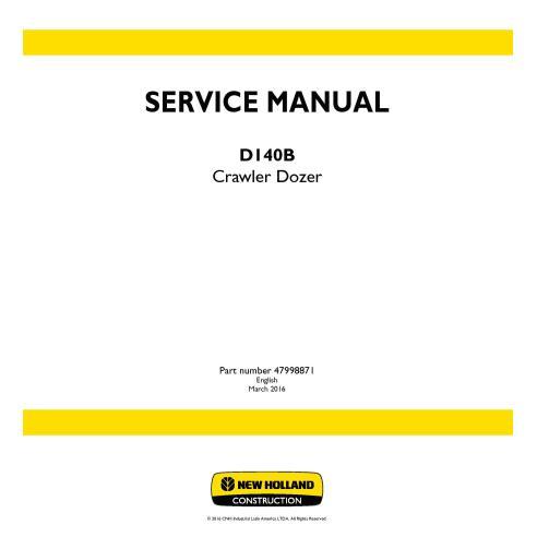New Holland D140B crawler dozer service manual - New Holland Construction manuals