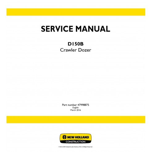 New Holland D150B crawler dozer service manual - New Holland Construction manuals