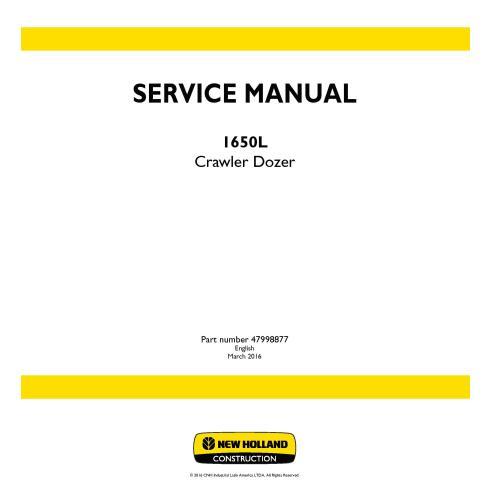 Manual de serviço do trator de esteira 1650L da New Holland - New Holland Construction manuais