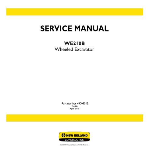 Manual de servicio de la excavadora de ruedas New Holland WE210B - Construcción New Holland manuales