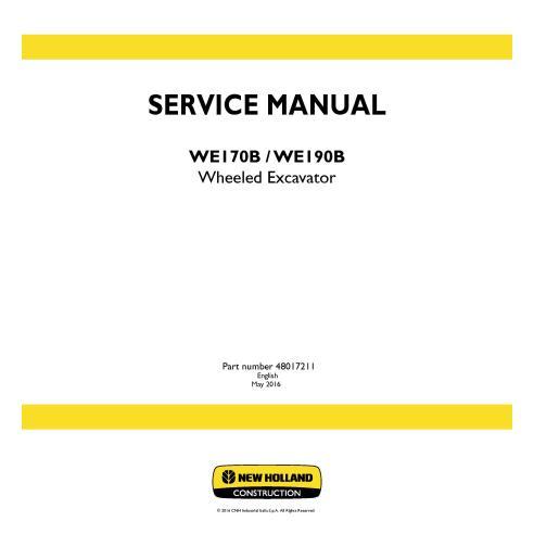 Manual de serviço da escavadeira de rodas New Holland WE170B / WE190B - New Holland Construction manuais